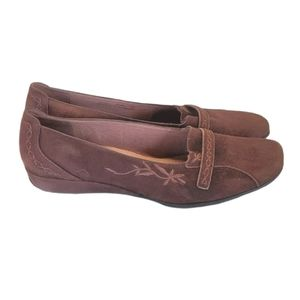 Clark's Artisan Suede Wedge Loafers